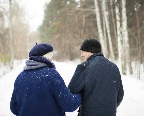 Anziani badante freddo