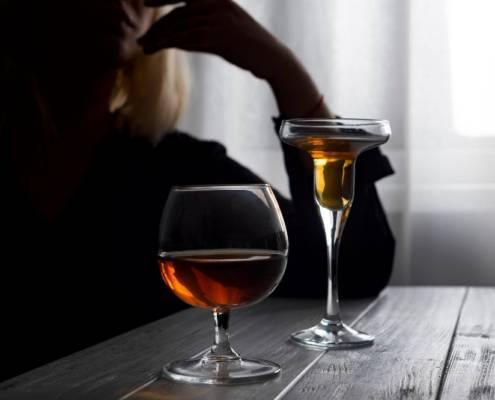 Badante convivente ubriaca alcolismo e badanti