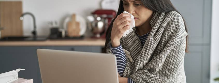 Badante affetta da sintomi post covid